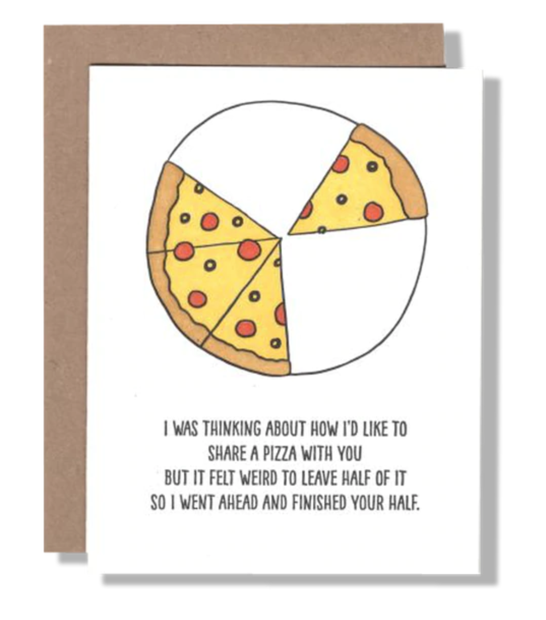 Power and Light Letterpress - PLL PLLGCHU0036 - Half Pizza