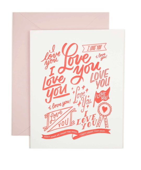 Friendly Fire Paper - FFP FFPGCLO0001 - Love You (Can't Count)