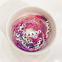 Sweet EK Designs - SWD Brave Rainbow Pink Beaded Bracelet, Kids