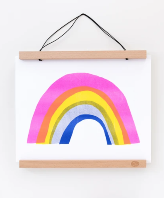 "Yellow Owl Workshop - YOW YOW PRSM - Rainbow Riso Print, 11"" x 14"""