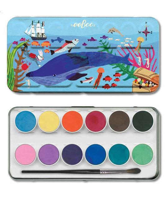 Eeboo - EE Eeboo - In the Sea Watercolors