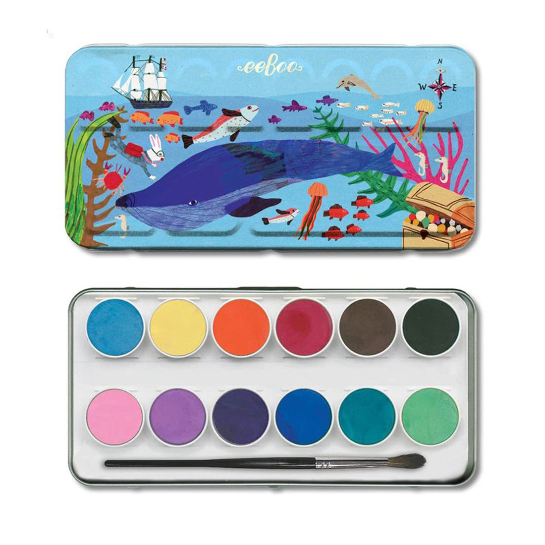 Eeboo - EE Eeboo - In the Sea Watercolors