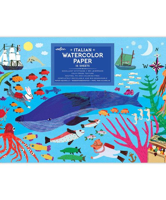 Eeboo - EE Eeboo - In the Sea Watercolor Pad
