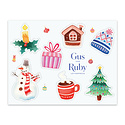 Gus and Ruby Letterpress - GR Gus & Ruby - Christmas  Sticker Sheet
