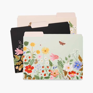 Rifle Paper Co - RP Rifle Paper Co - Strawberry Fields File Folders, Set of 6