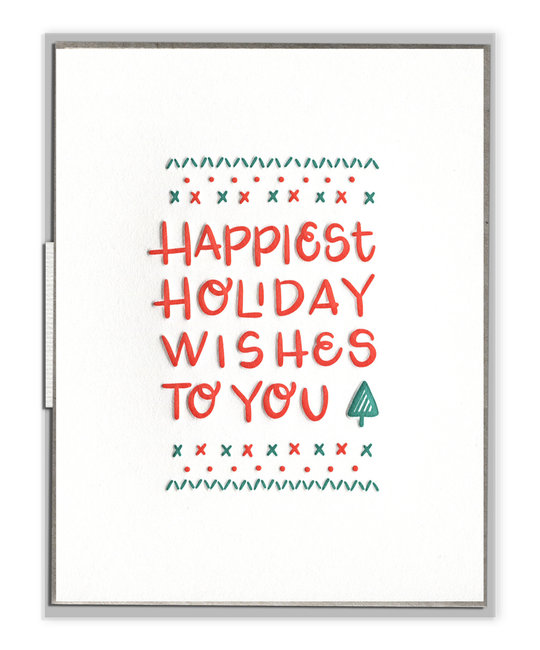 ink meets paper Happiest Holiday Wishes, Boxed Set of 6