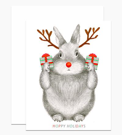 Dear Hancock - DH Reindeer Bunny Card