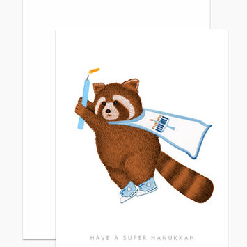 Dear Hancock - DH Super Hanukkah Red Panda Card