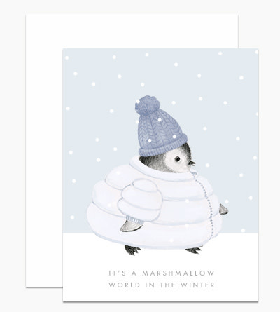 Dear Hancock - DH Dear Hancock Marshmallow Penguin Winter Card