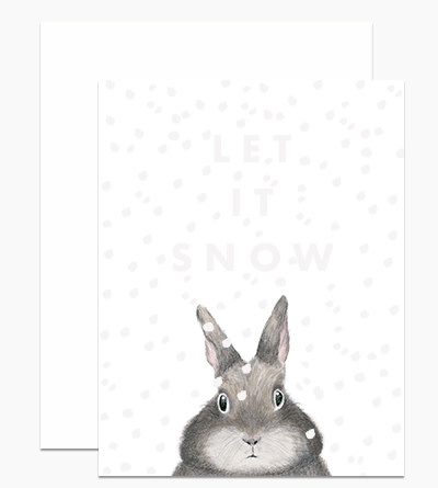 Dear Hancock - DH Dear Hancock Let it Snow Card (White Gloss Foil)