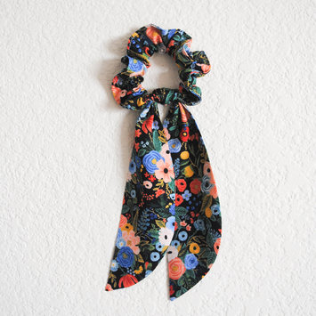 Felicity Howells - FH Navy Garden Party Hair Scrunchie