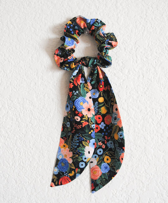Felicity Howells - FH Rifle Paper Co Navy Garden Party Hair Scrunchie