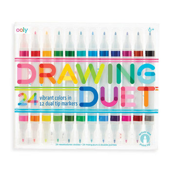 OOLY - OO Drawing Duet Double-Ended Markers, Set of 12