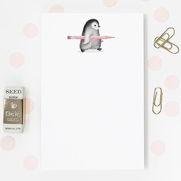 Dear Hancock - DH Penguin with Pink Pencil Notepad