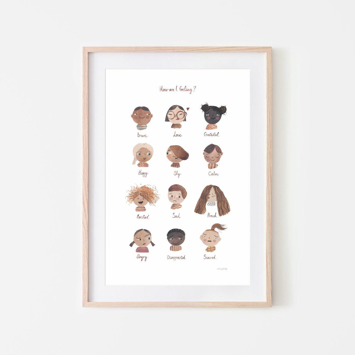 """Mushie - MU Feelings Print 18"""" x 24"""""""