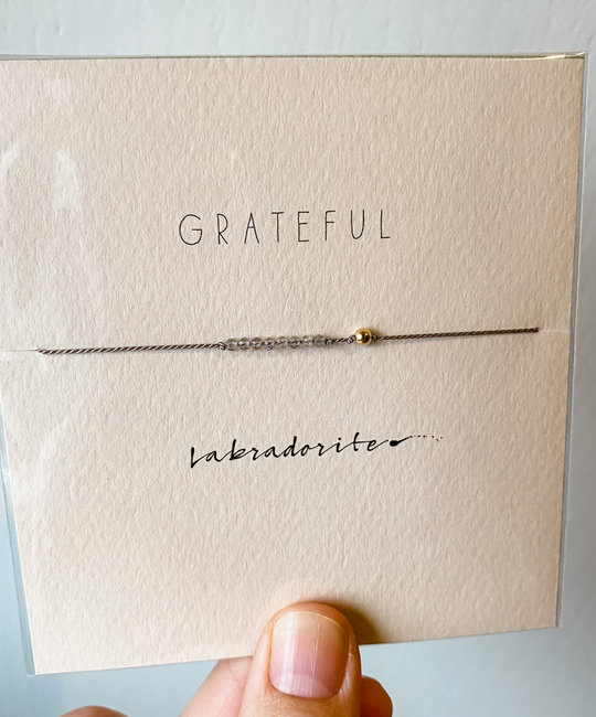 "Mai Lin Jewelry - MLJ ""Grateful"" Labradorite, Silk Cord Bracelet"