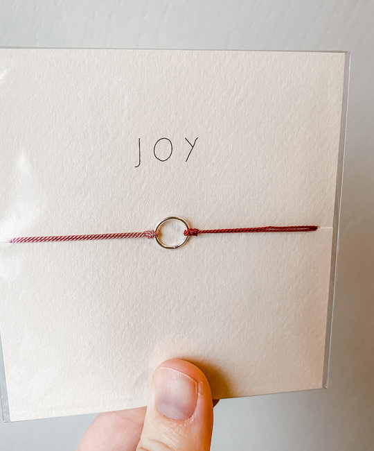 "Mai Lin Jewelry ""Joy"" Sterling Silver Circle, Silk Cord Bracelet"