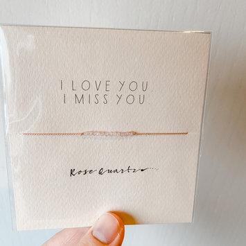 "Mai Lin Jewelry - MLJ ""I Love You, I Miss You"" Rose Quartz, Silk Cord Bracelet"