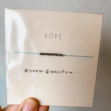 "Mai Lin Jewelry ""Hope"" Green Quartz, Silk Cord Bracelet"