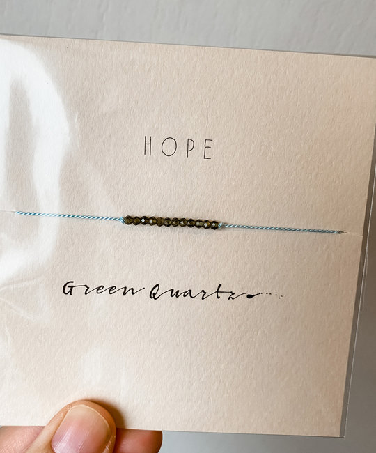 "Mai Lin Jewelry - MLJ ""Hope"" Green Quartz, Silk Cord Bracelet"