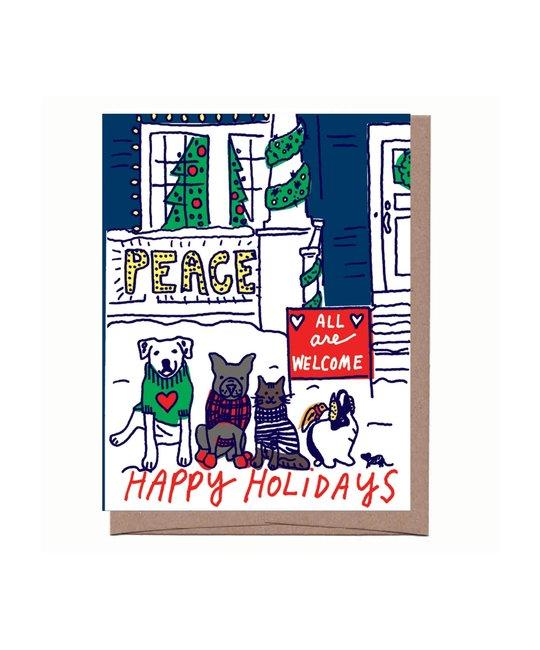 La Familia Green - LFG LFG NSHO - All Are Welcome Holiday Note Set, 8
