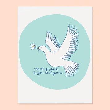 The Good Twin - TGT Daisy Dove Sending Peace Card