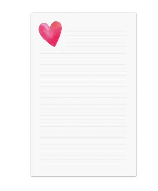 E. Frances Paper Studio - EF EF NP - Heart Lined Notepad