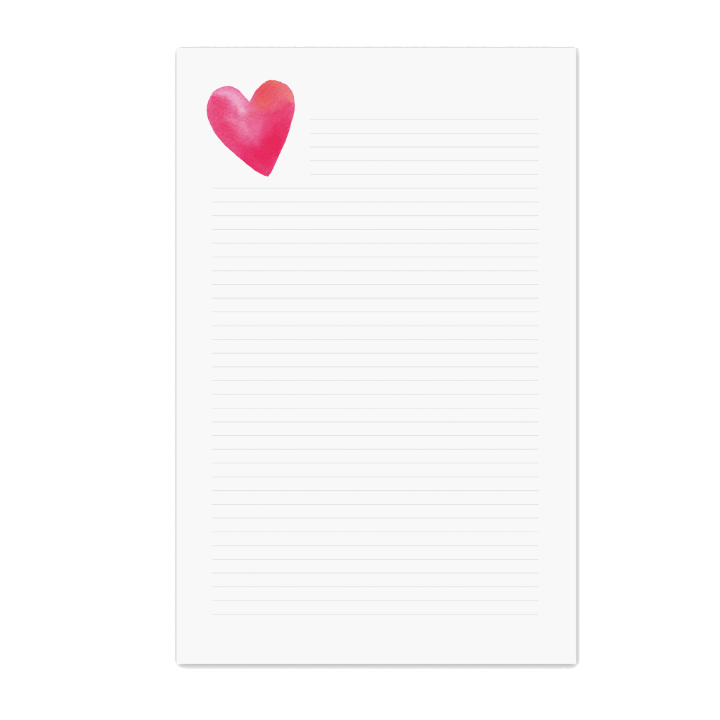 E. Frances Paper Studio - EF EF NP - Heart Lined Notepad