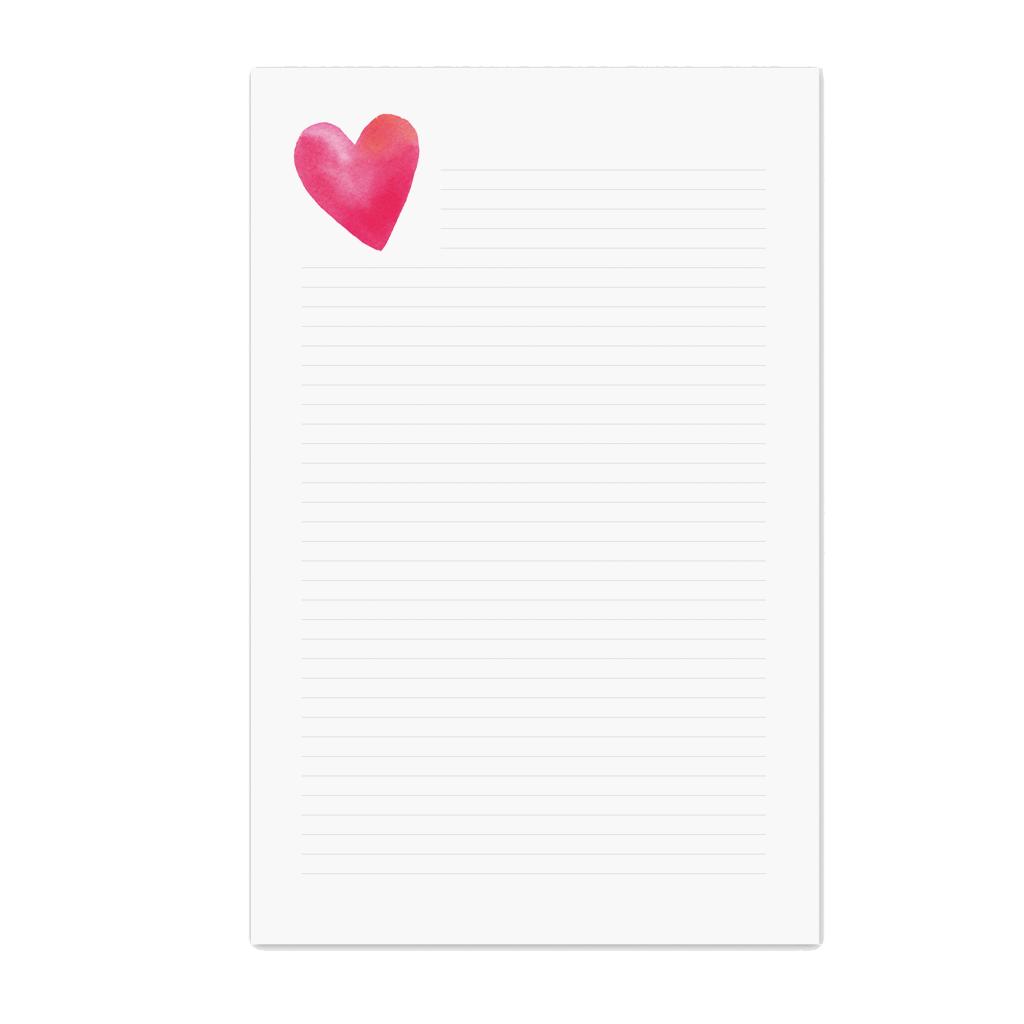 E. Frances Paper Studio - EF Heart Lined Notepad