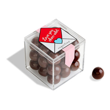 "Sugarfina - SU Sugarfina - ""Love You Choc-Alot"" Dark Chocolate Sea Salt Caramels Small Cube"