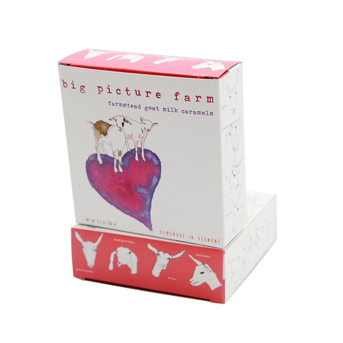 big picture farm Big Picture Farms - Goat Milk Caramels Heart Box (Sea Salt Vanilla)