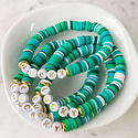 Mod Miss Jewelry - MM Kids Color Pop Green Lucky Bracelet