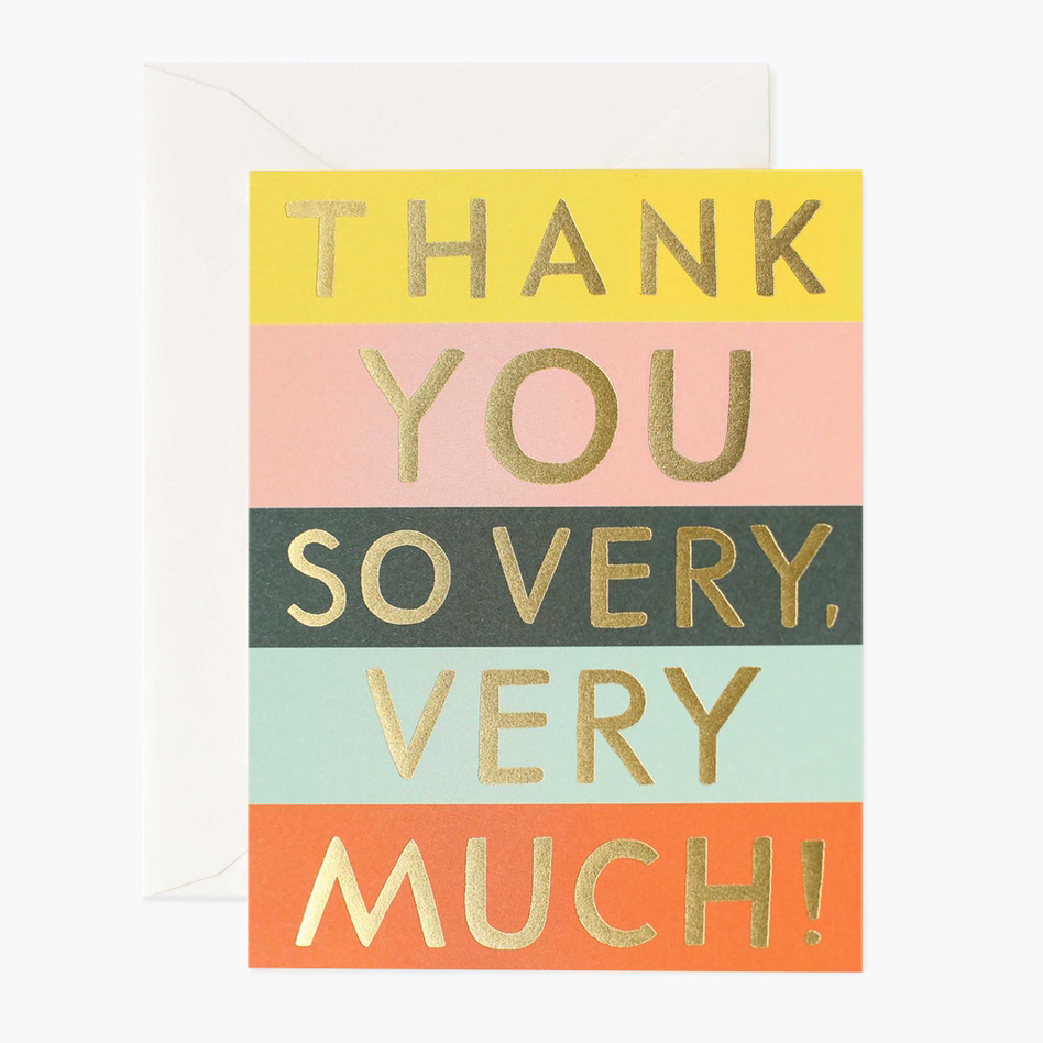 Rifle Paper Co - RP Rifle Paper Co - Color Block Thank You Notes, Set of 8
