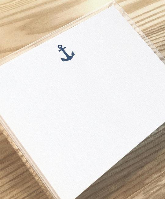 Huckleberry Letterpress - HBL Anchor Stationery Set of 12 Flat Cards