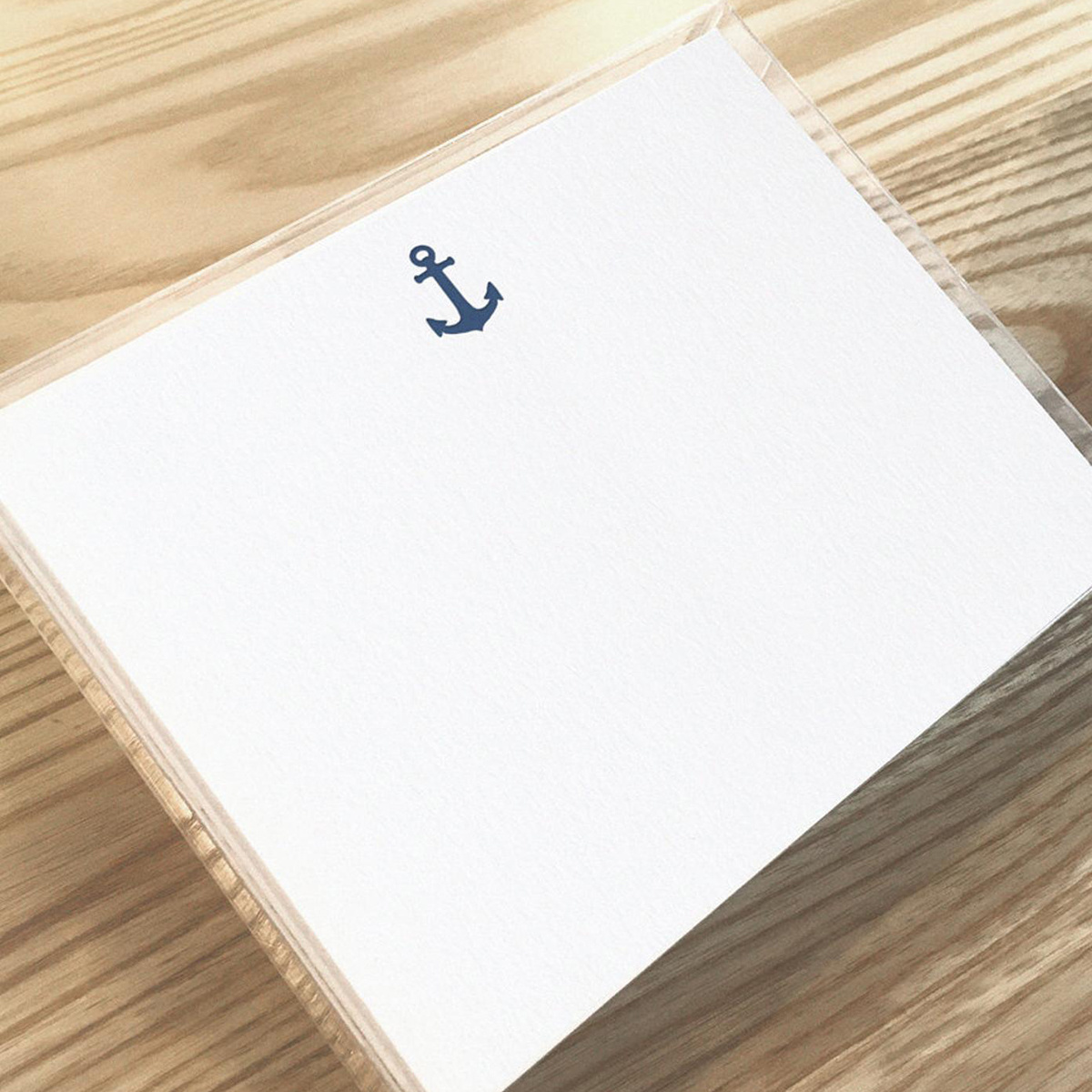 Huckleberry Letterpress - HBL Anchor Stationery Set of 12 Flat Cards
