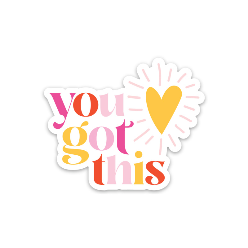 Gus and Ruby Letterpress - GR Gus & Ruby - You Got This, Die-Cut Sticker