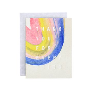 Moglea - MOG MOGGCTY0008 - Rainbow Thank You Card, Multi