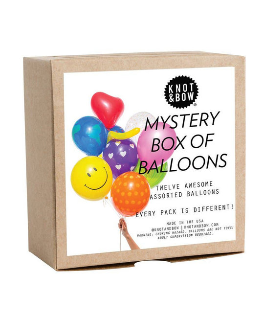 knot and bow Mystery Party Balloons, box of 12