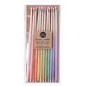 knot and bow Assorted Ombre Beeswax Tall Birthday Candles