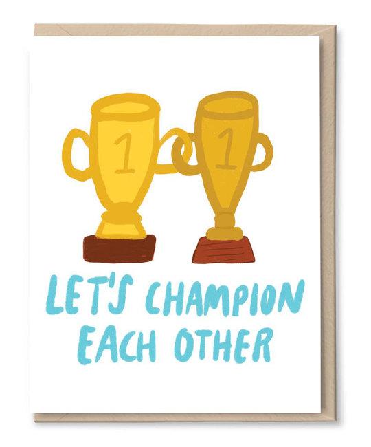 Tigerpocket Press - TPP Let's Champion Each Other
