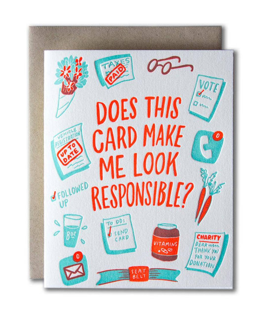 Ladyfingers Letterpress - LF Does this card make me look responsible