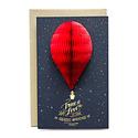 Ladyfingers Letterpress - LF True Love Balloon Deluxe Card
