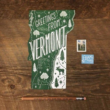 Noteworthy Paper and Press - NPP Greetings From Vermont Postcard