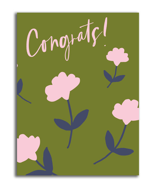 Gus and Ruby Letterpress - GR Congrats  Floral
