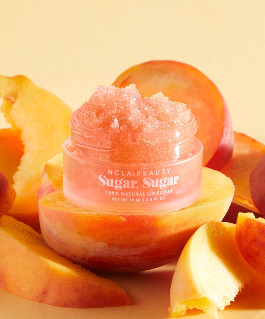 NCLA Beauty All-Natural Peach Lip Scrub