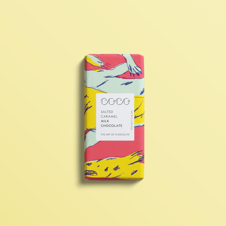 Coco Chocolatier Mini Salted Caramel Chocolate Bar