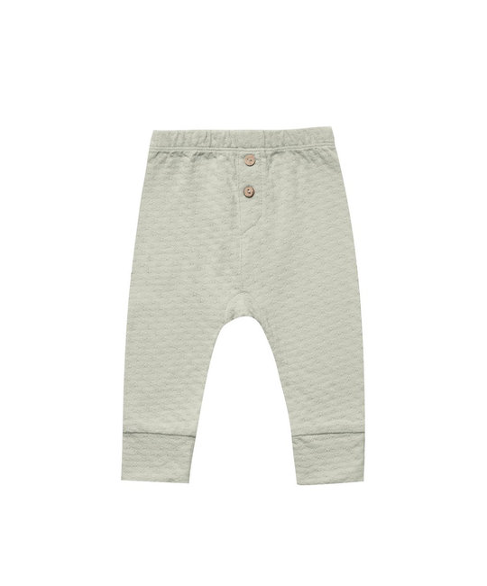 Quincy Mae - QM Quincy Mae - Pointelle Pajama Pant in Sage