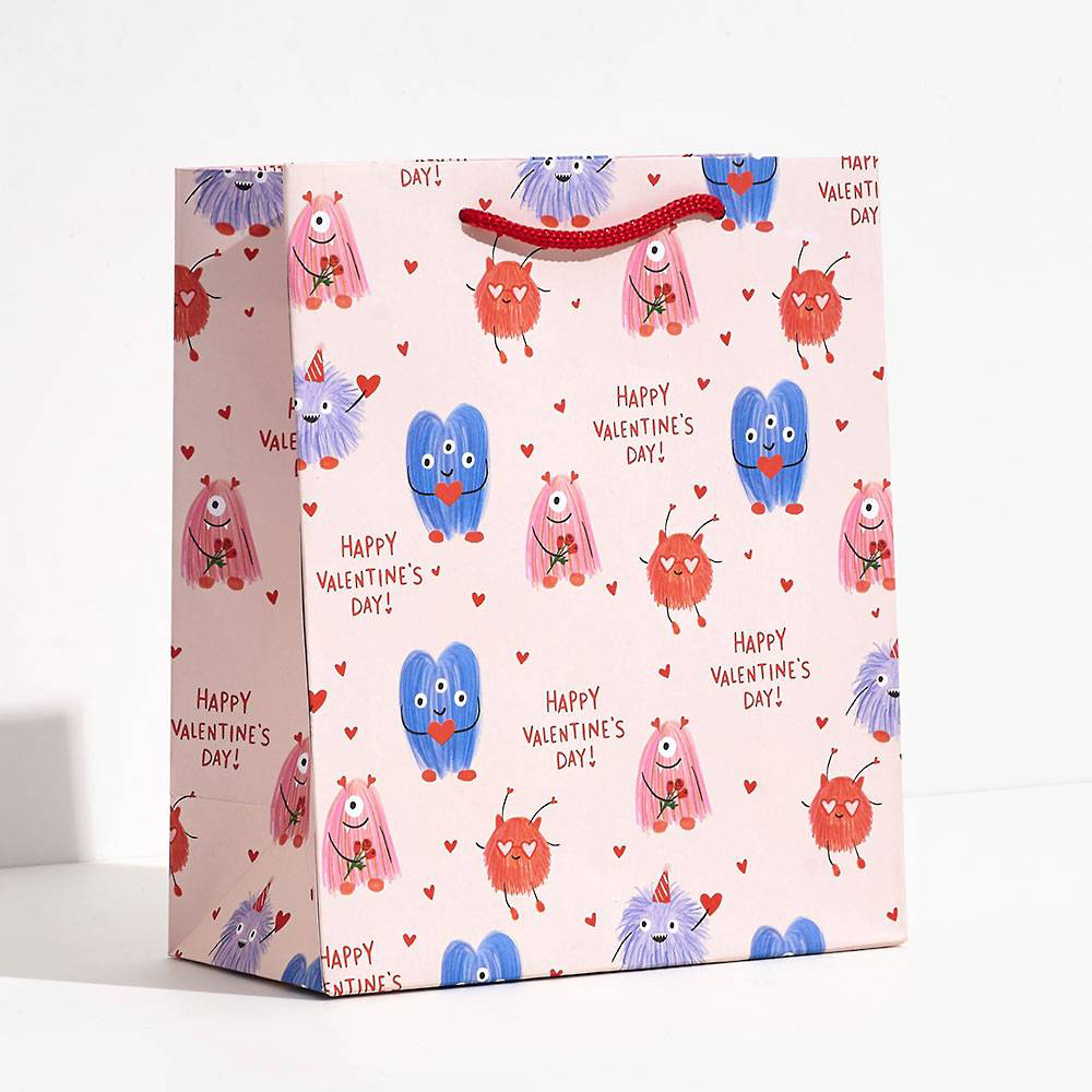 Waste Not Paper - WN Monsters Gift Bag, Medium