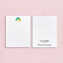 Gus and Ruby Letterpress - GR Gus & Ruby - Set of 8 Rainbow Foil Notecards with Edge Painting