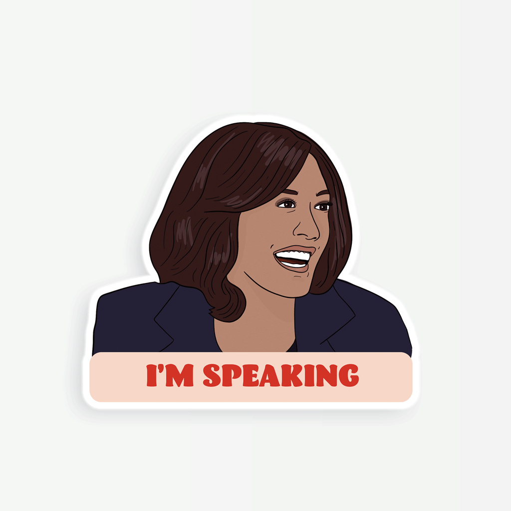 Party Mountain - PM Kamala: I'm Speaking (Sticker)
